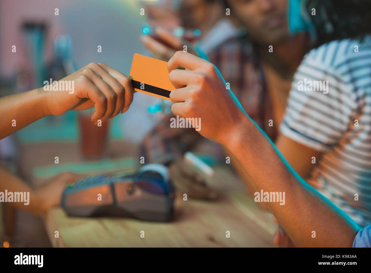 payment with credit card - Stock Image