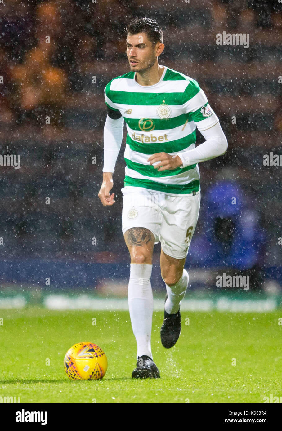 Celtic's Nir Bitton during the Betfred Cup, Quarter Final match at Dens Park, Dundee. - Stock Image