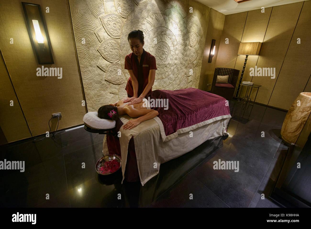 Pampering spa treatment, Bangkok, Thailand - Stock Image