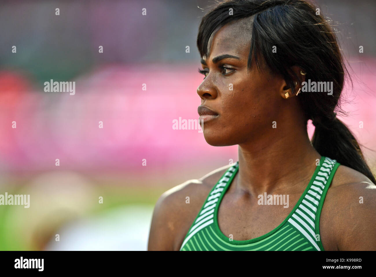 Blessing Okagbare-Ighoteguonor (Nigeria) - Long Jump - IAAF Athletics World Championships - London 2017 - Stock Image