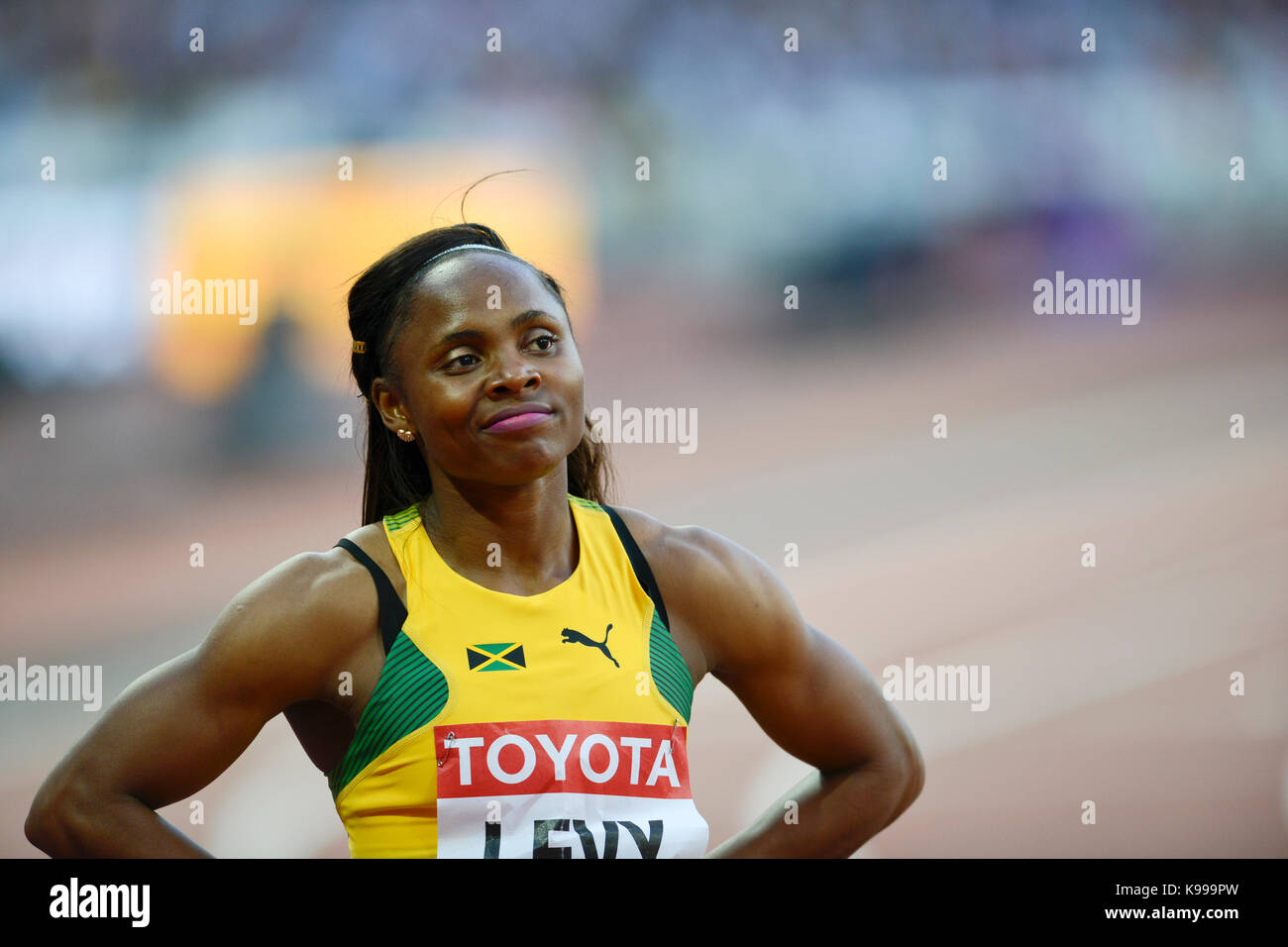 Jura Levy - 100m women - IAAF Athletics World Championships - London 2017 - Stock Image