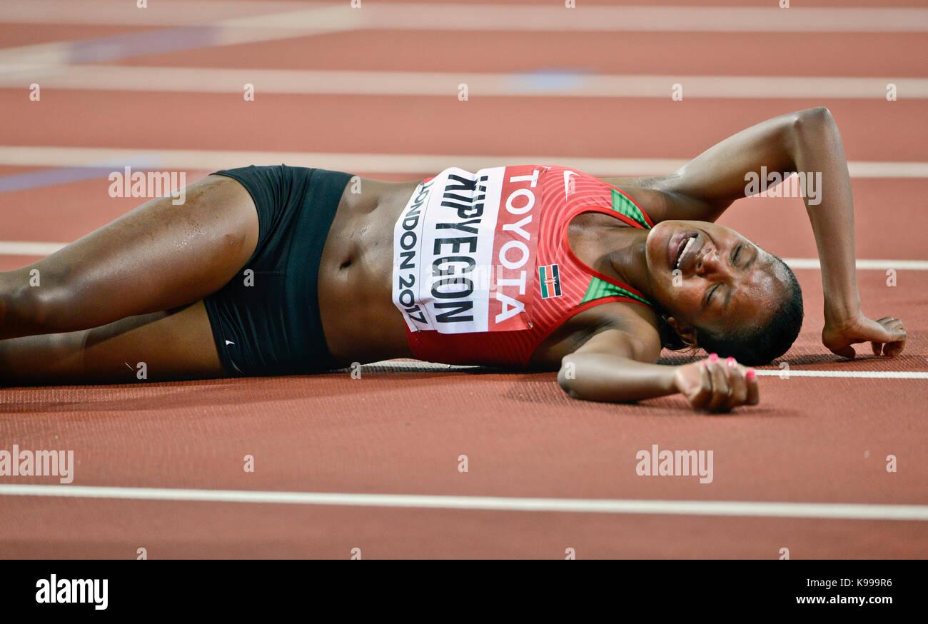 Faith Kipyegon (Kenya) - 1500m race - IAAF Athletics World Championships - London 2017 - Stock Image
