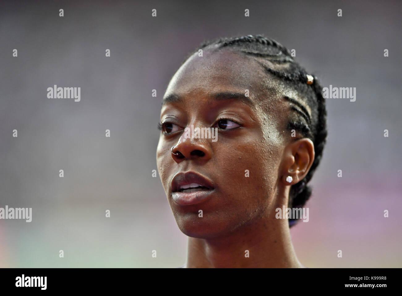 Lorraine Ugen (Great Britain) Long Jump - IAAF Athletics World Championships - London 2017 - Stock Image
