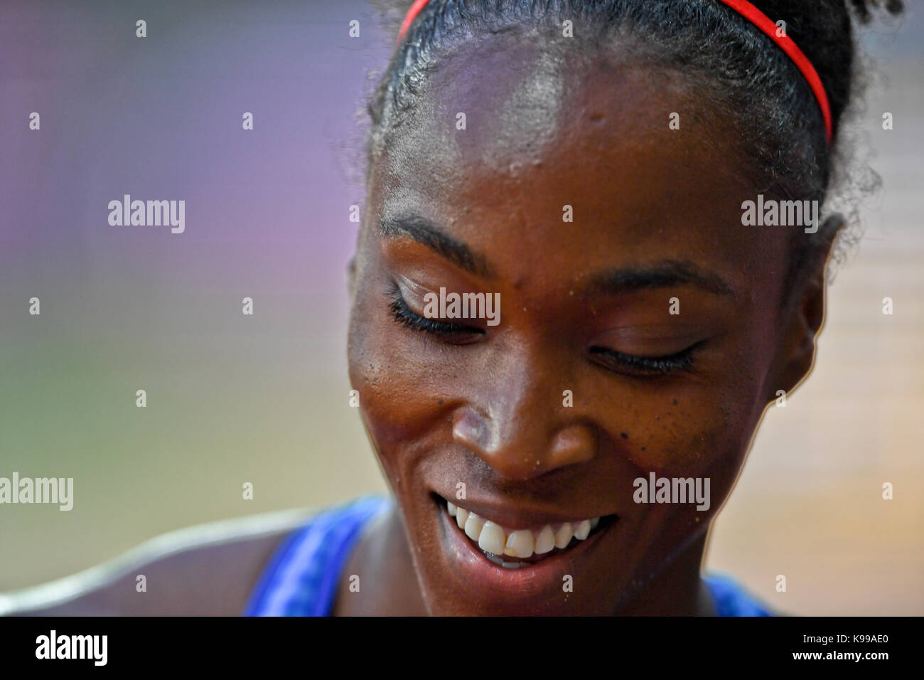 Tianna Bartoletta (USA) -  IAAF Athletics World Championships - London 2017 - Stock Image