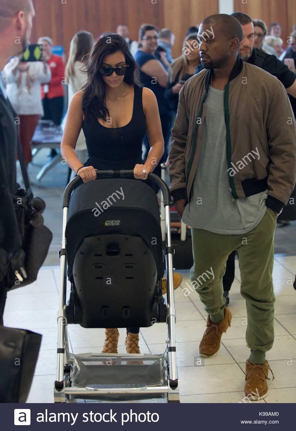 Kanye West, Kim Kardashian and North West. Kim Kardashian and Kanye ...