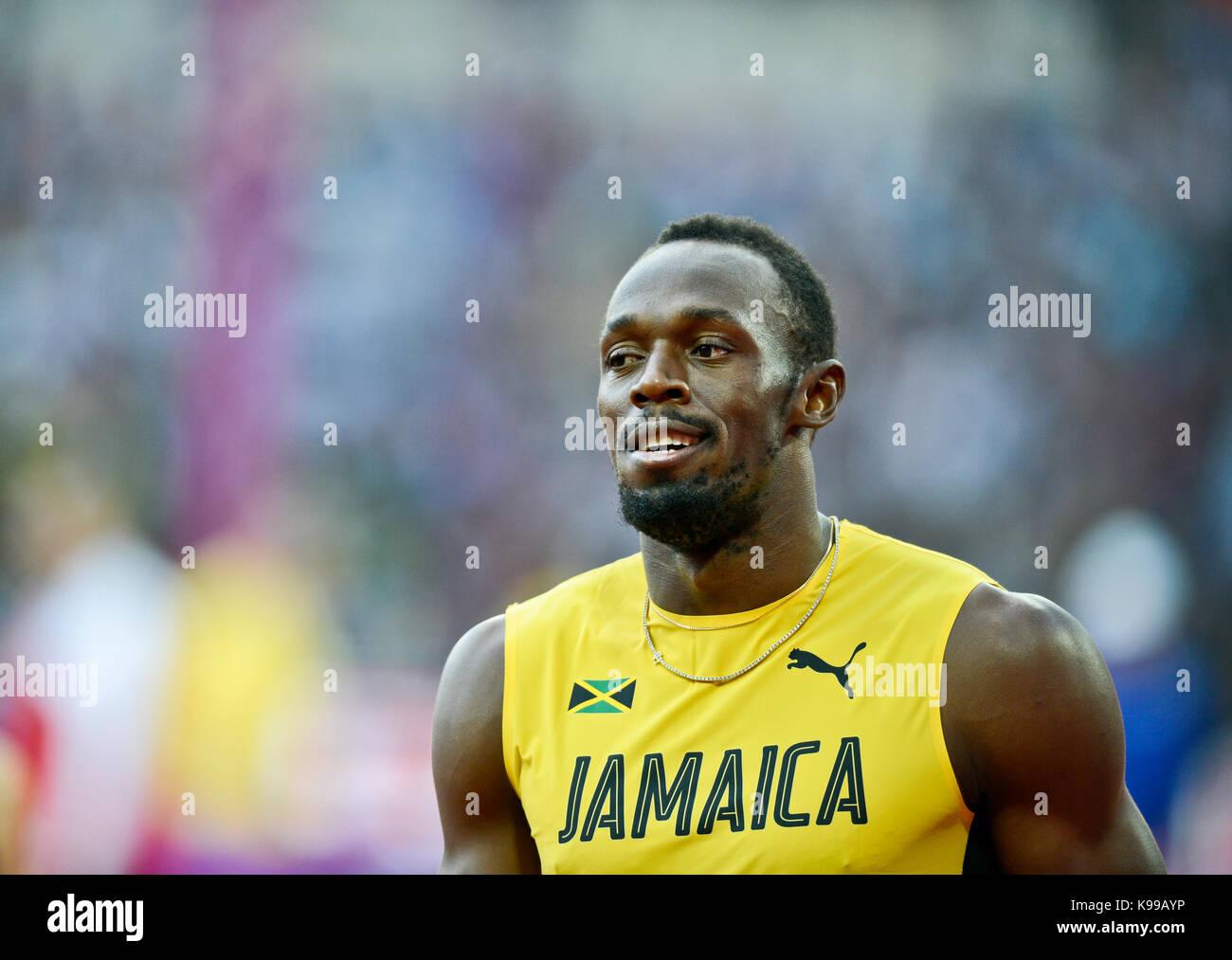 Usain Bolt (Jamaica) - IAAF Athletics World Championships - London 2017 - Stock Image