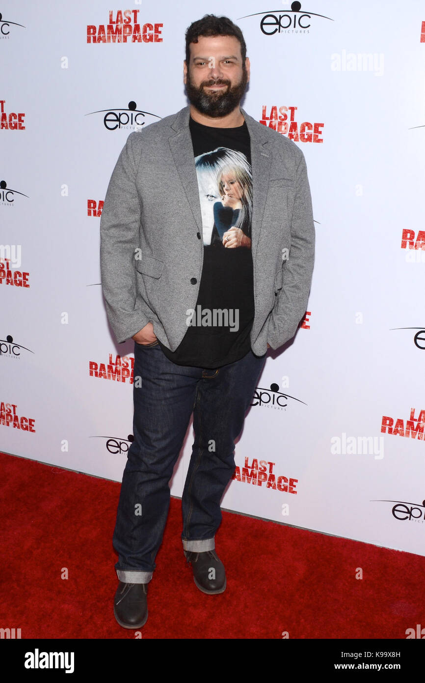 "Hollywood,USA. 21st Sep,2017. Alvaro Rodriquez arrives Los Angeles Premiere ""Last Rampage' Arclight Cinemas - Stock Image"