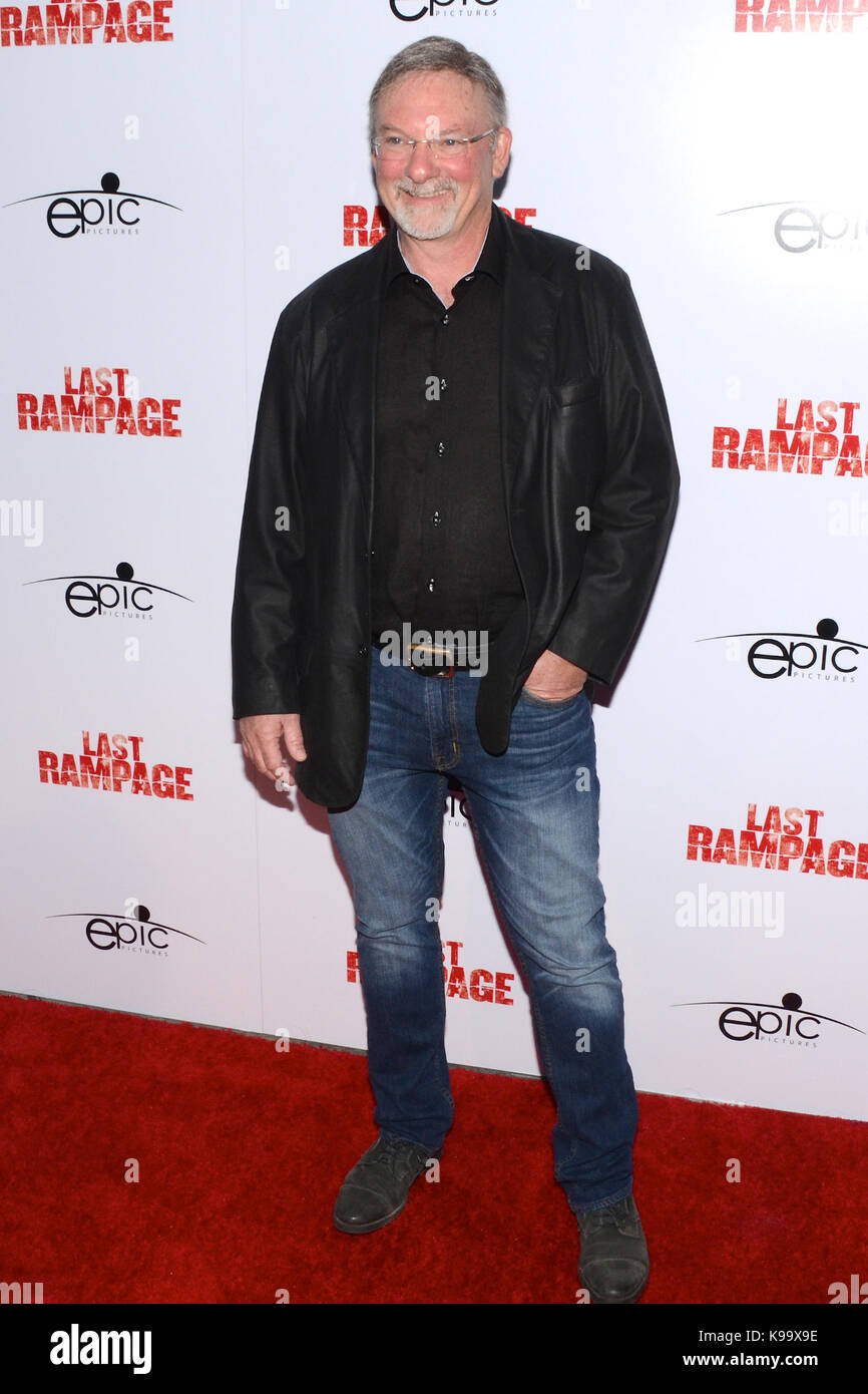 """Hollywood,USA. 21st Sep,2017. Dwight Little arrives Los Angeles Premiere """"Last Rampage' Arclight Cinemas Hollywood - Stock Image"""