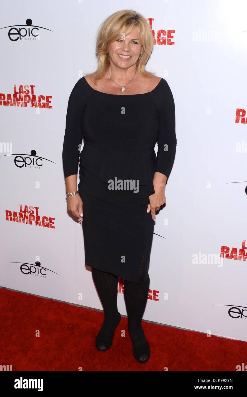 "Hollywood,USA. 21st Sep,2017. Sandy Little arrives Los Angeles Premiere ""Last Rampage' Arclight Cinemas Hollywood - Stock Image"