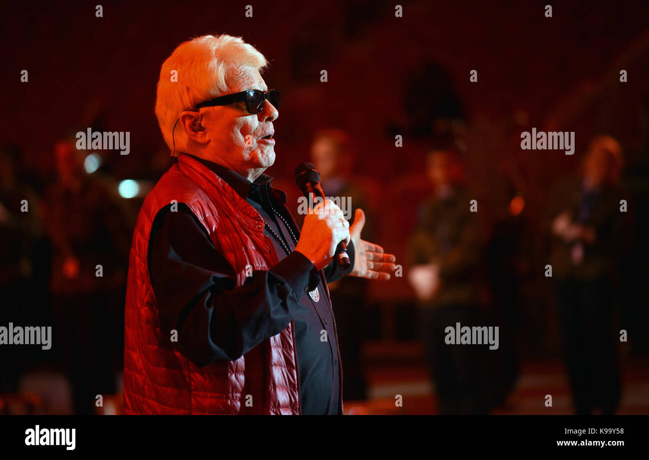 EXCLUSIVE - The folk singer Heino sings during rehearsals for the 'Musikfest der Bundeswehr' (lit. - Stock Image