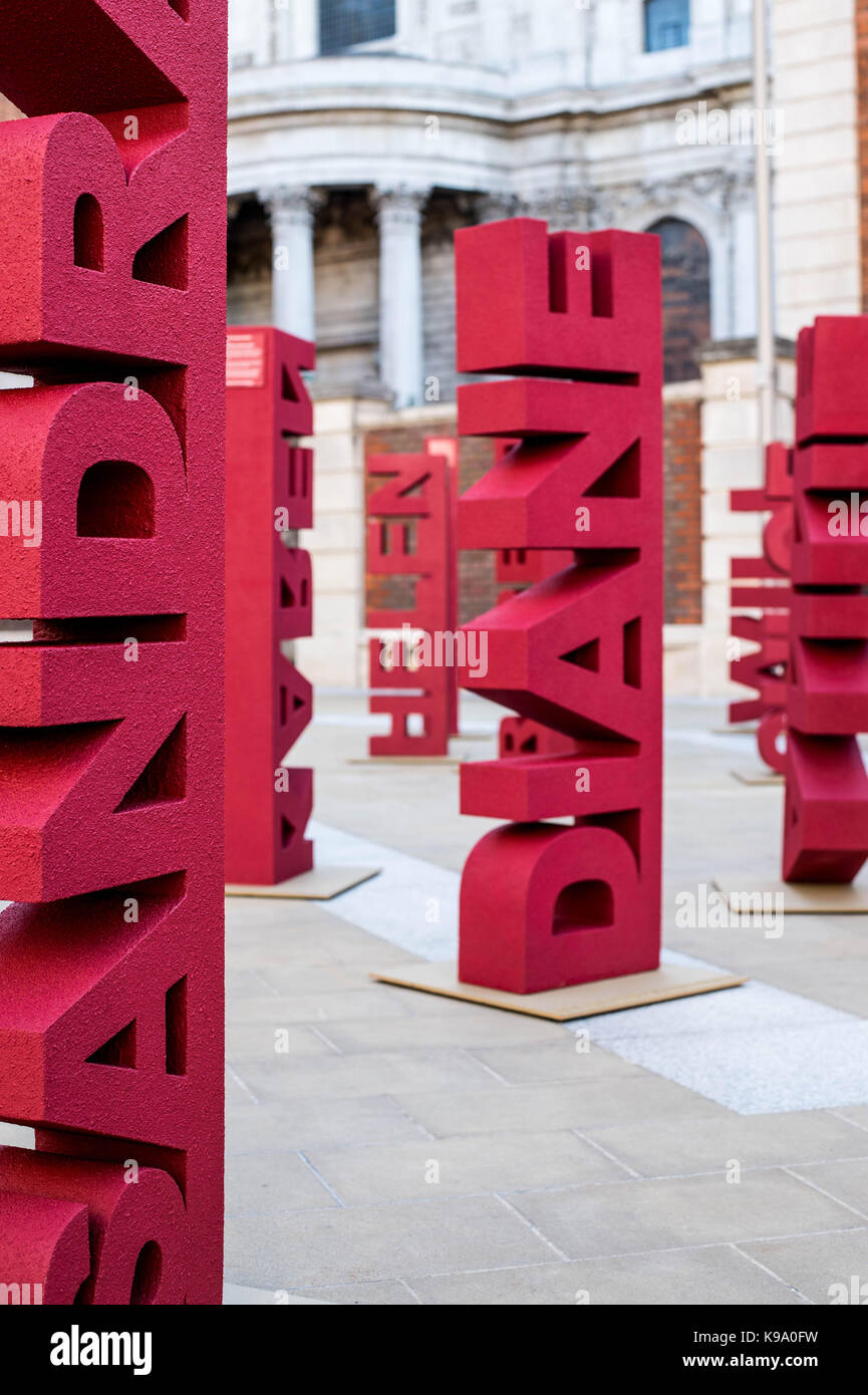 London, UK. 22nd Sep, 2017. Janssen Oncology have collaborated with nine blood cancer groups to raise awareness - Stock Image