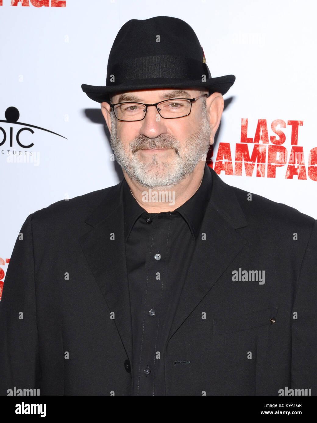 "Hollywood,USA. 21st Sep,2017. Eric Breiman arrives Los Angeles Premiere ""Last Rampage' Arclight Cinemas Hollywood - Stock Image"