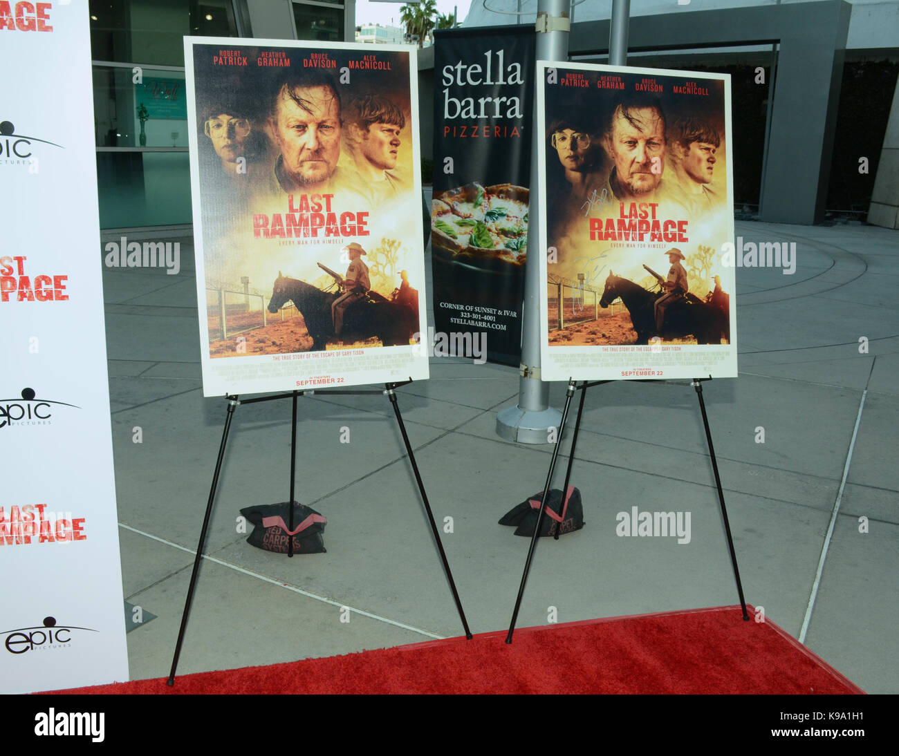 "Hollywood,USA. 21st Sep,2017. Atmosphere Los Angeles Premiere ""Last Rampage' Arclight Cinemas Hollywood September - Stock Image"