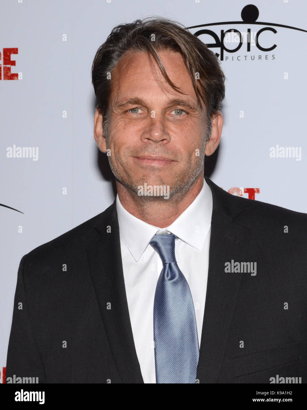 """Hollywood,USA. 21st Sep,2017. Chris Browning arrives Los Angeles Premiere """"Last Rampage' Arclight Cinemas Hollywood - Stock Image"""