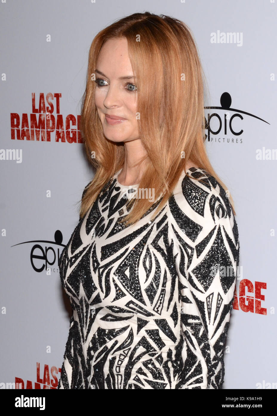 "Hollywood,USA. 21st Sep,2017. Heather Graham arrives Los Angeles Premiere ""Last Rampage' Arclight Cinemas Hollywood - Stock Image"