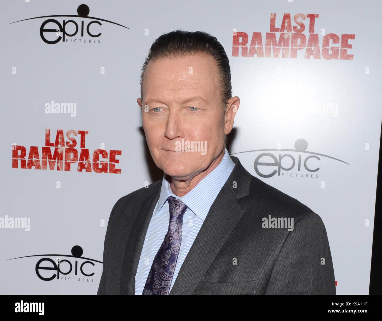 "Hollywood,USA. 21st Sep,2017. Robert Patrick arrives Los Angeles Premiere ""Last Rampage' Arclight Cinemas Hollywood - Stock Image"