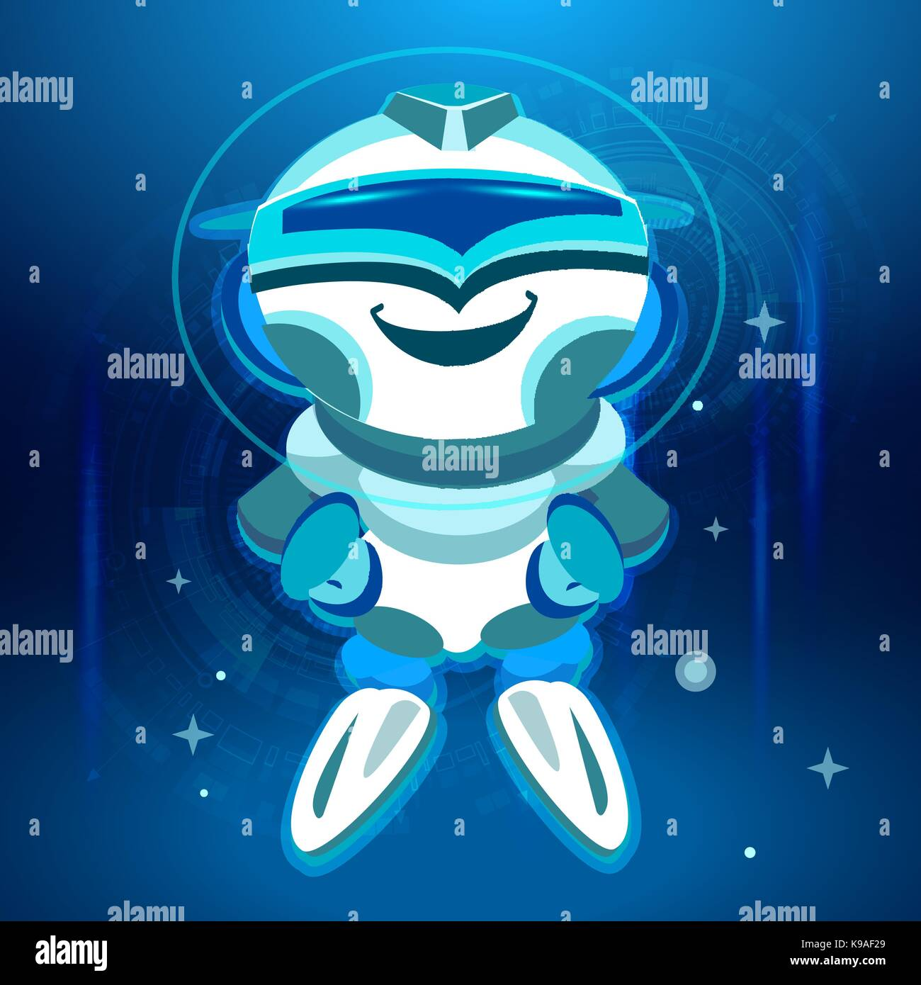 Bot. Chatbot. Robot in Vector - Stock Image