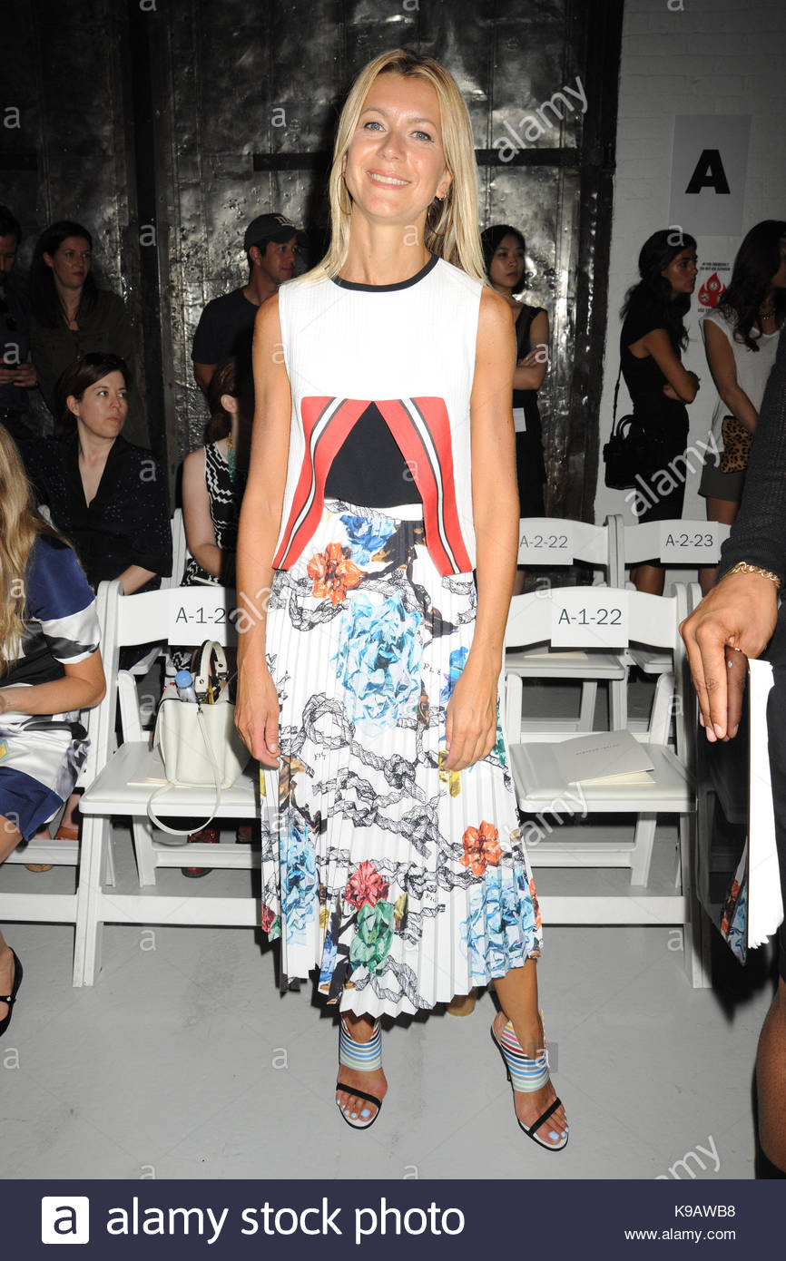 Celebrities row front at nyfw spring