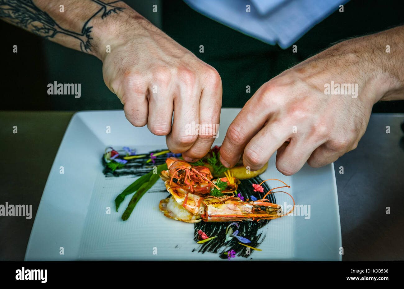 Top Chef in Action - Stock Image