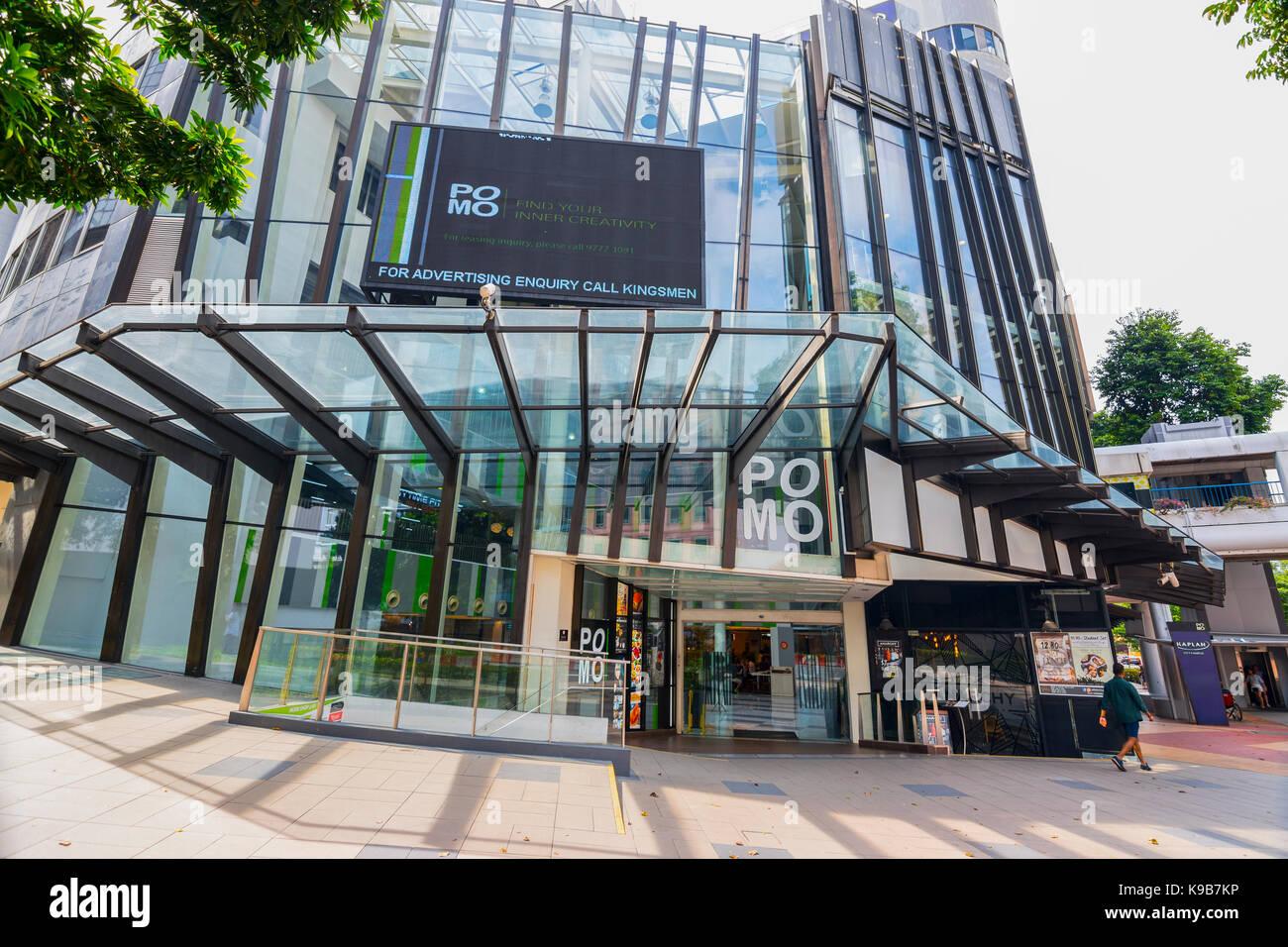 PoMo Shopping Mall, Selegie Road, Singapore - Stock Image