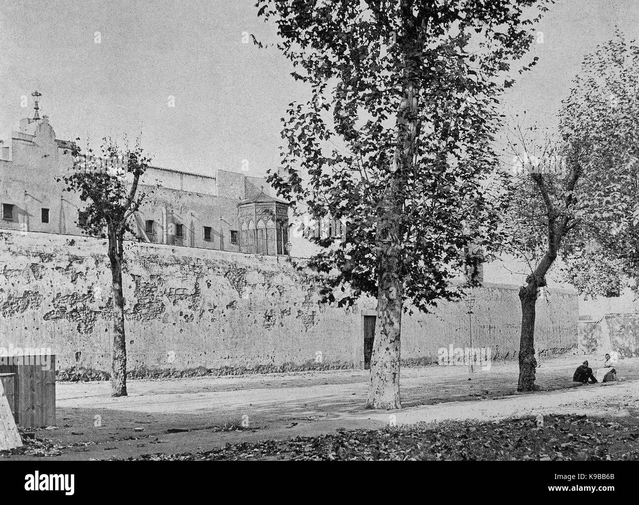 Spain. Catalonia. Barcelona. 19th century. General Prison. In the first place, space where those condemned to capital - Stock Image