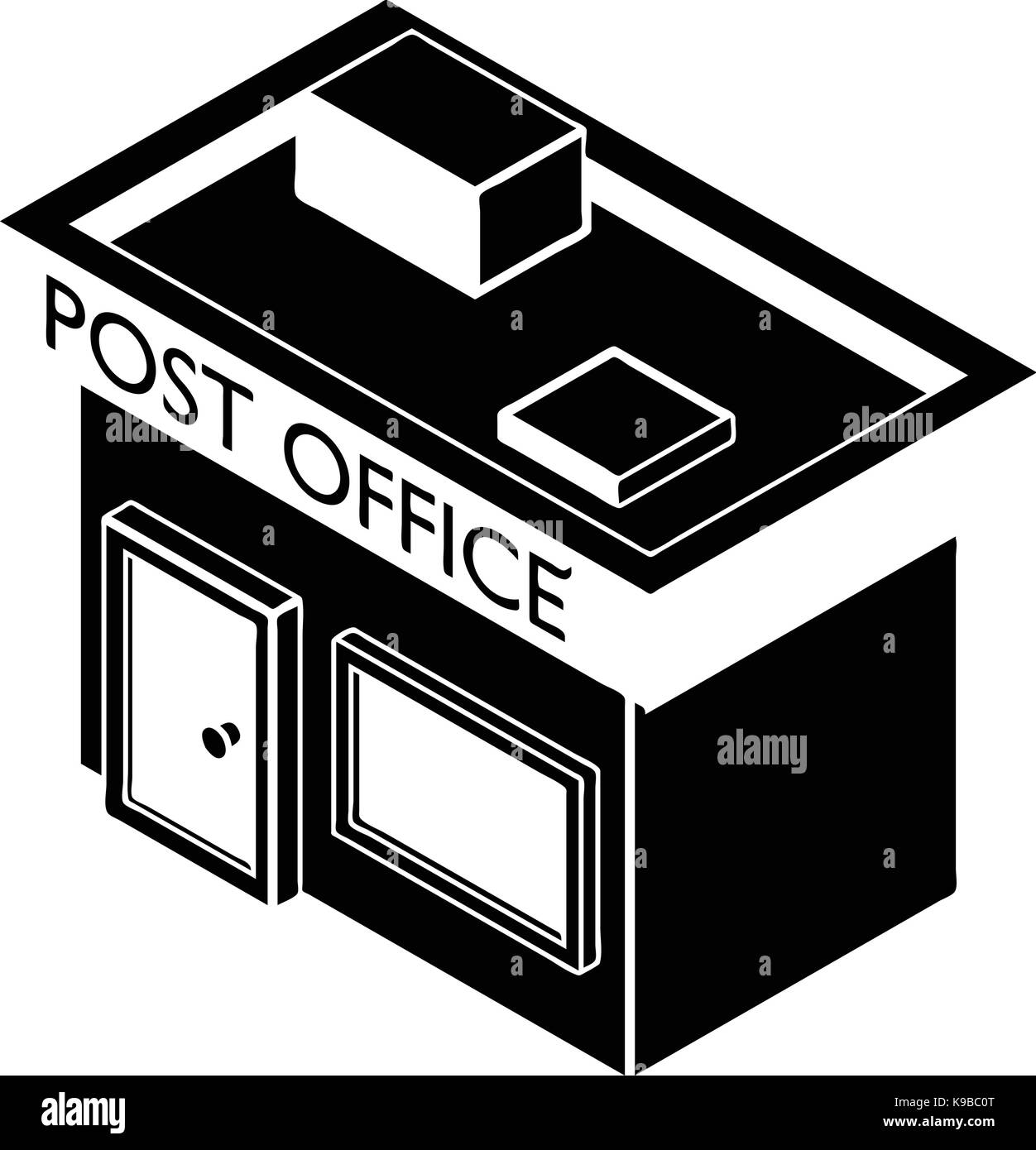 Post Office Icon, Simple Style   Stock Image