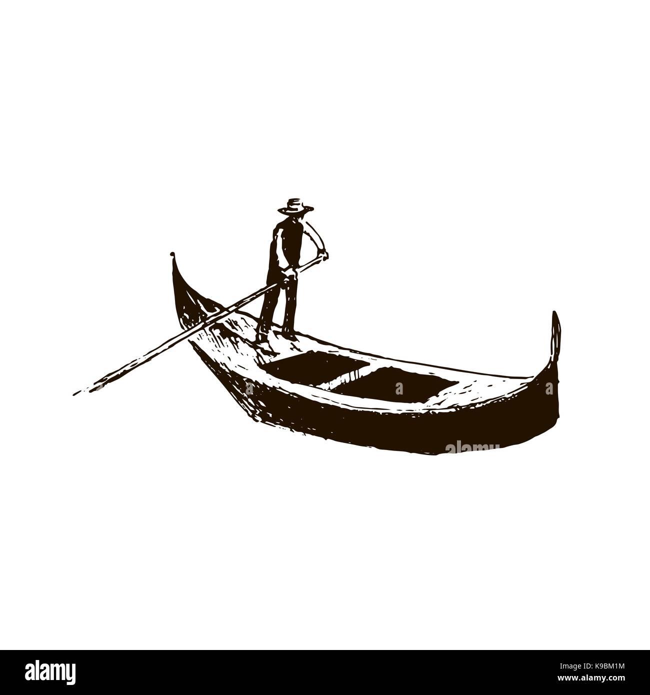 e2a6dbd26d8 Gondola. Venice symbol. vector sketch. - Stock Image