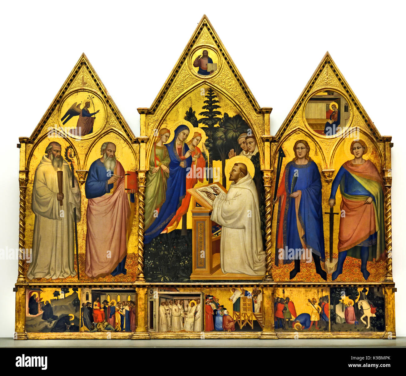 Matteo di Pacino, Madonna appare a San Bernardo - Our Lady appears in St. Bernard 1365, Academy Gallery, Florence - Stock Image