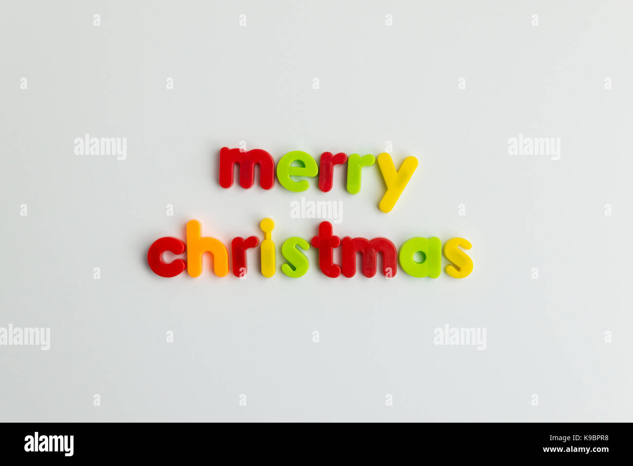 merry christmas words in colourful childrens letters stock image - Merry Christmas Words