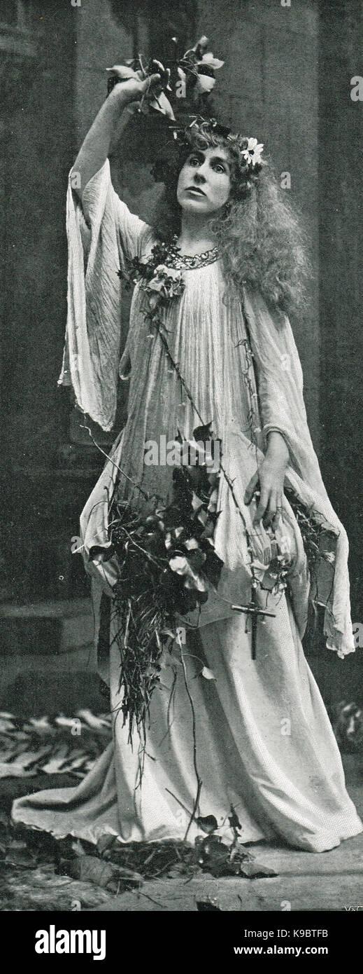 Constance Benson as Ophelia, circa 1899 - Stock Image