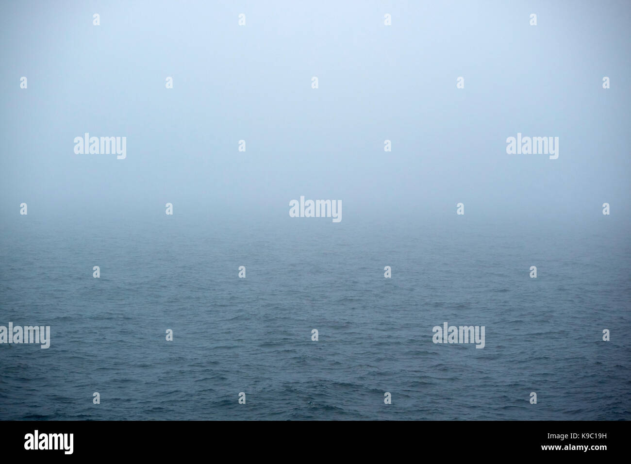 foggy day at sea - Stock Image