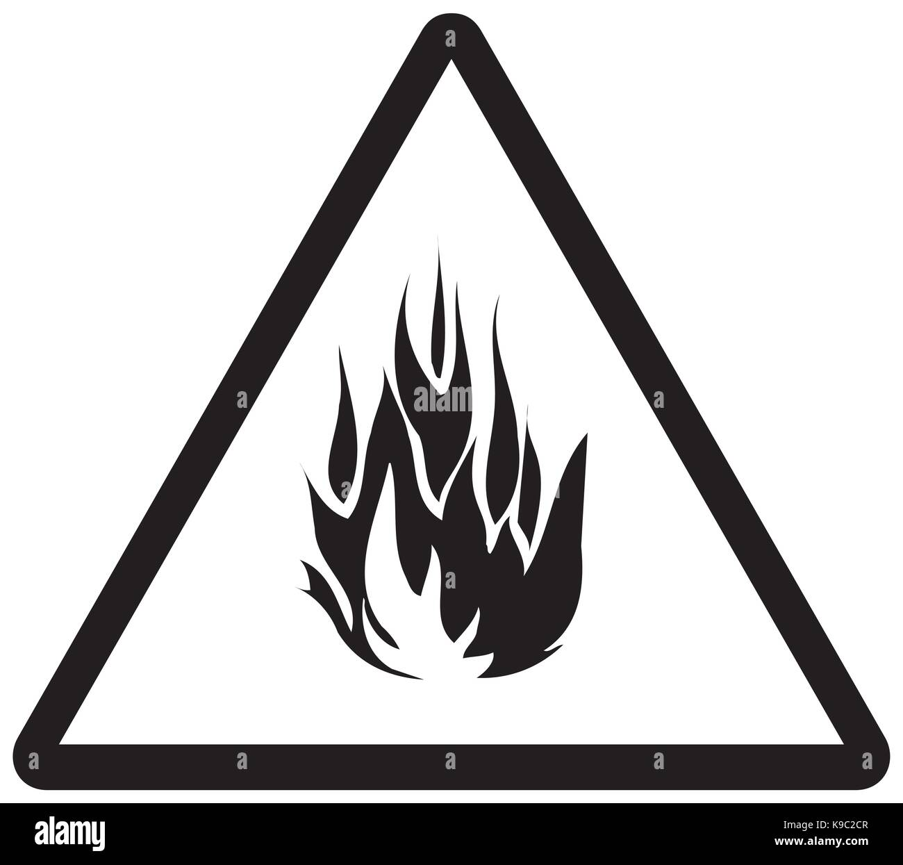 Fire warning signs - Stock Image