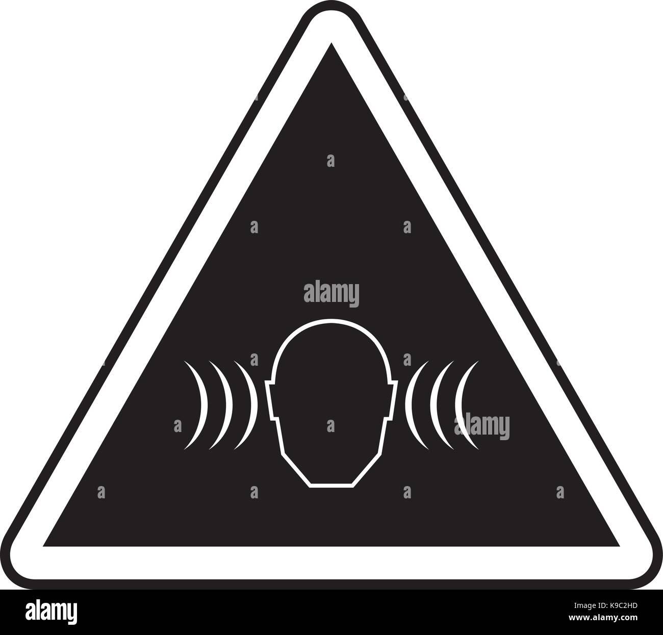 High noise levels warning sign - Stock Image