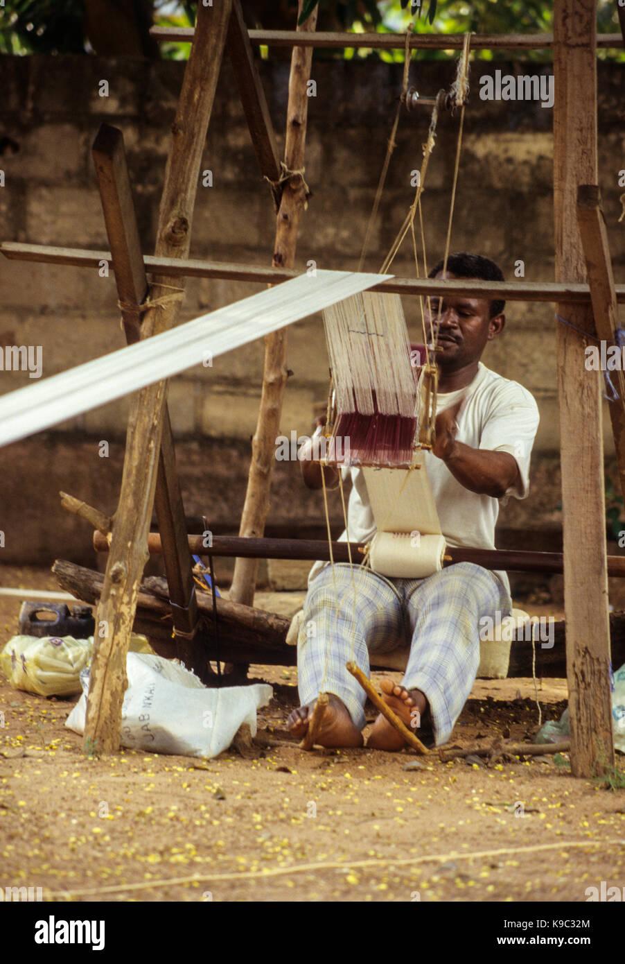 Korhogo, Ivory Coast, Cote d'Ivoire.  Senoufo Male Weaver, Muslim. - Stock Image