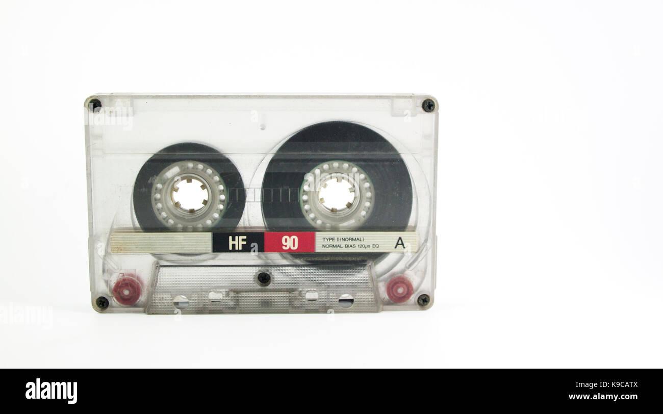 Vintage 90 minutes cassette tape - Stock Image
