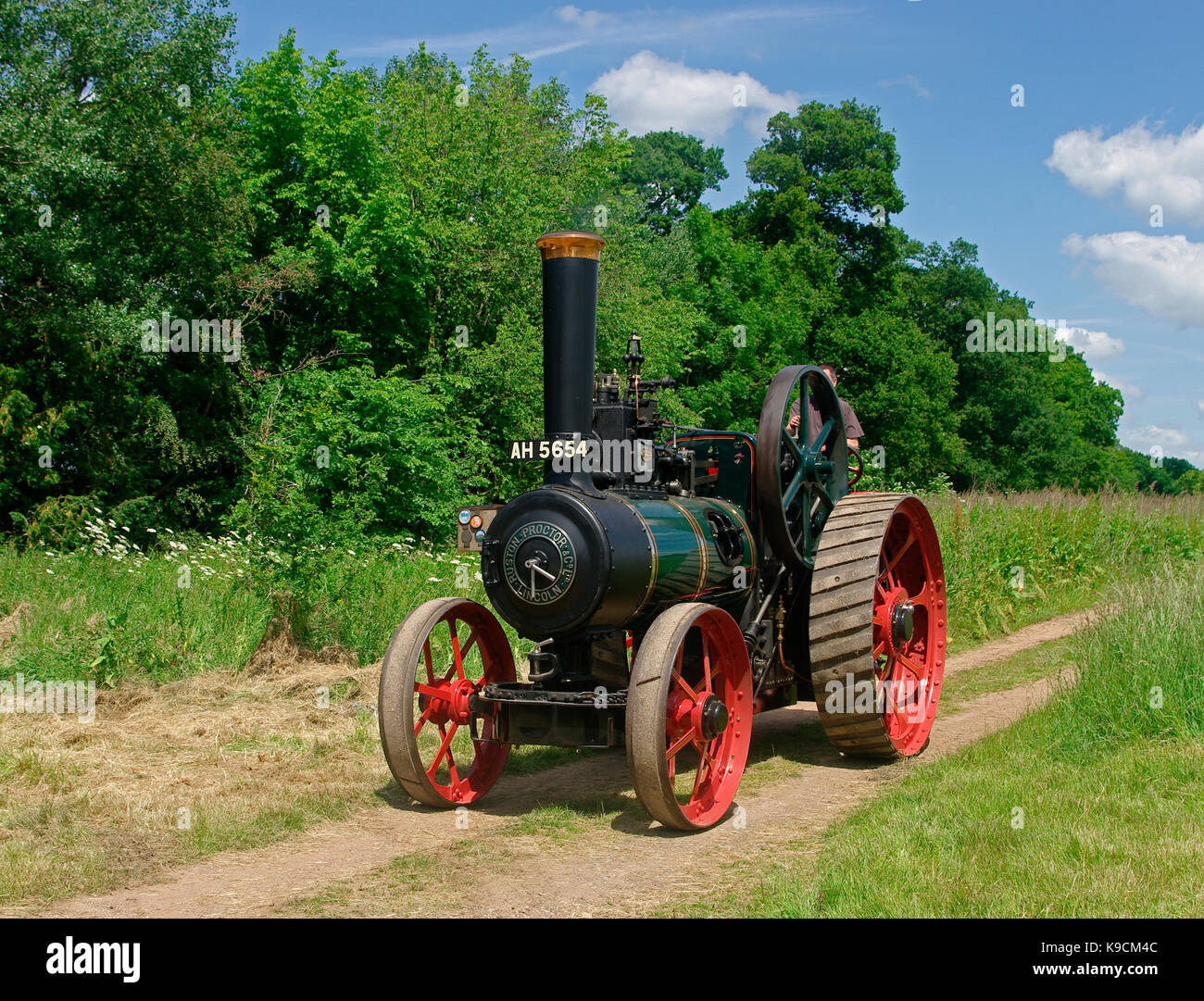 1908 Ruston Proctor Traction Engine - Stock Image