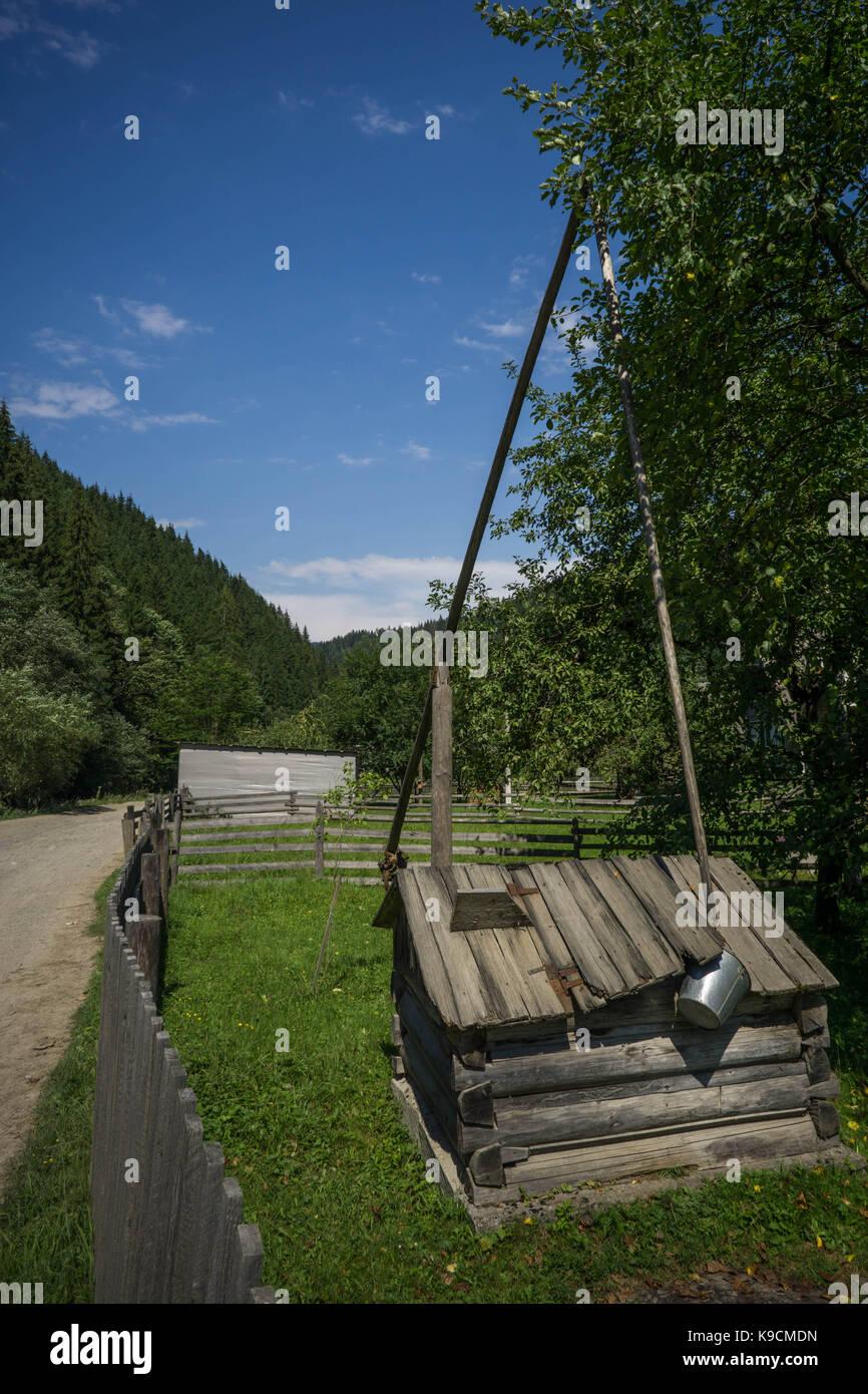 The photos took on a trip on Carpathian mountains around Pop Ivan. Stock Photo