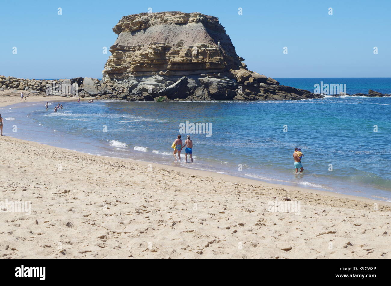 Beach of Porto Novo in Torres Vedras. Portugal - Stock Image