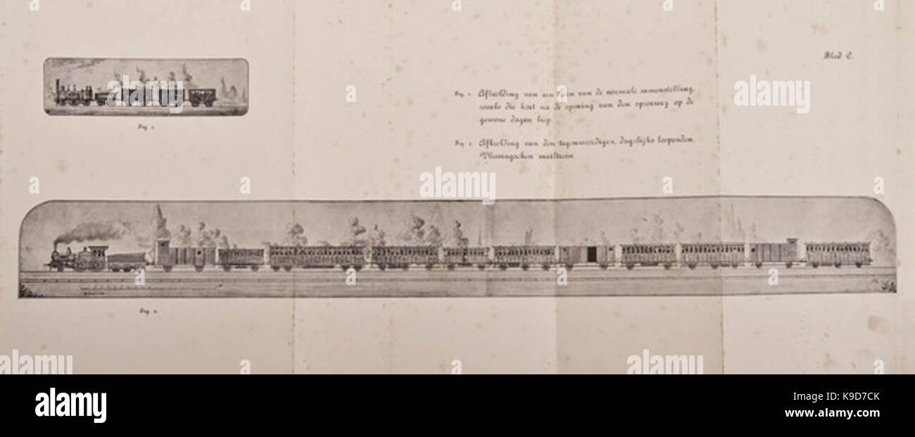 Ontwikkeling van trein voor personentransport, 1843 1889 - Stock Image