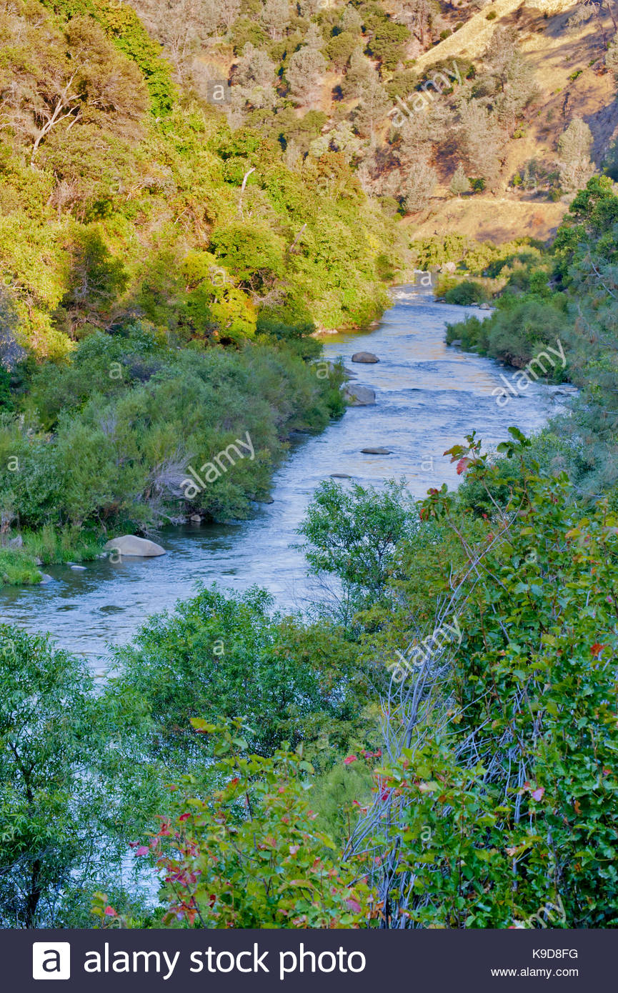 Cache Creek and the Cache Creek Wilderness, Yolo County, California - Stock Image