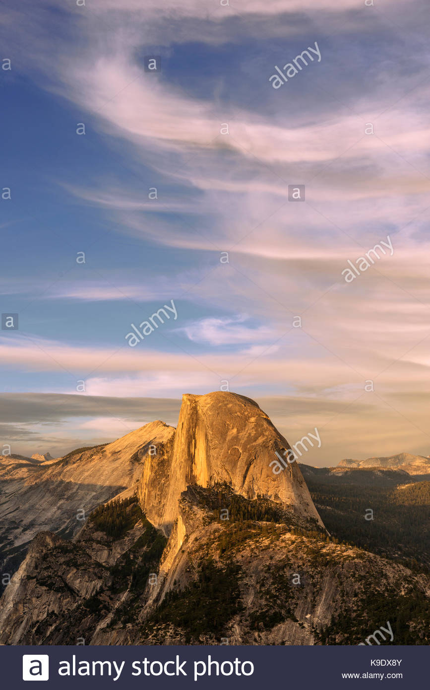 Half Dome and from Glacier Point, Yosemite National Park, California - Stock Image