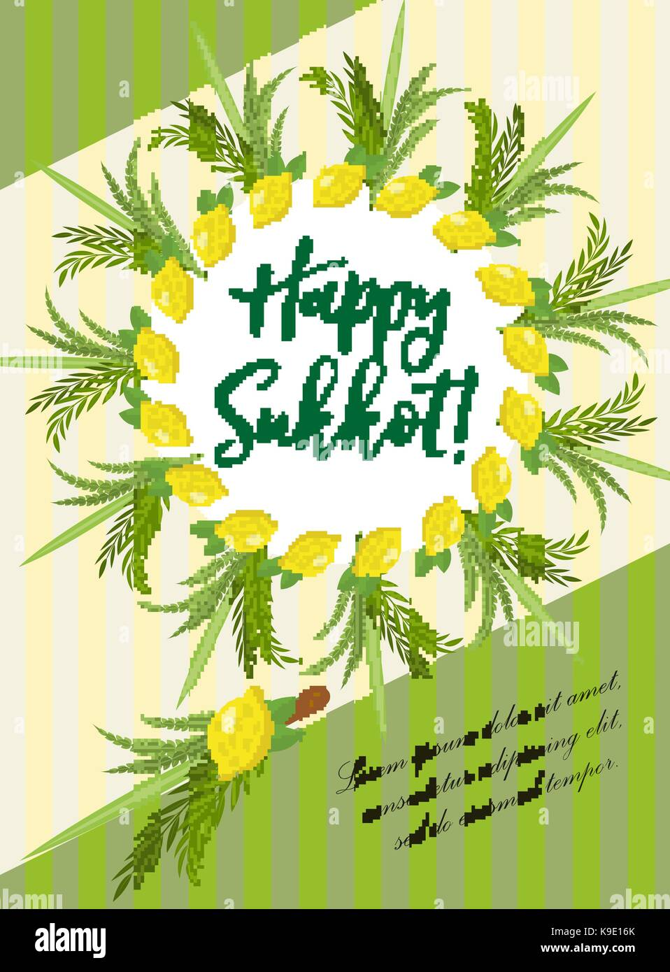 Sukkot stock vector images alamy happy sukkot flyer posters invitation sukkot template for your design greeting card and m4hsunfo