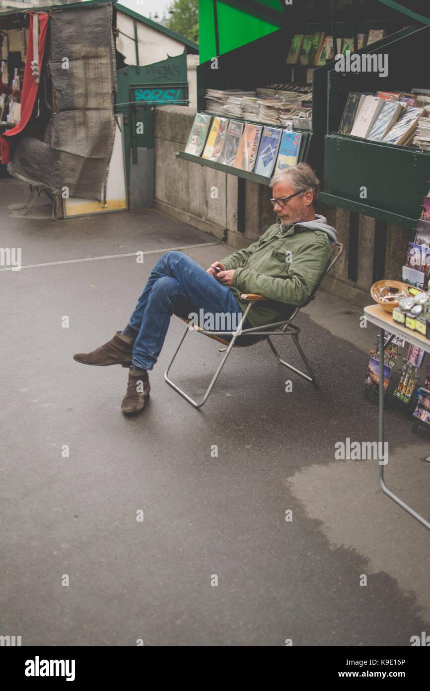 Travelling in Paris - Stock Image