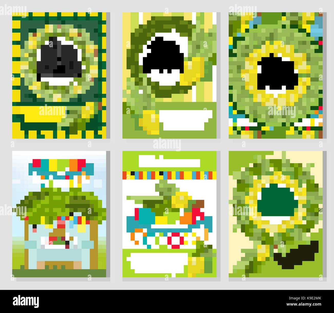 Happy Sukkot set of flyers or posters. Sukkot collection of templates for your design greeting cards and more. Vector - Stock Image