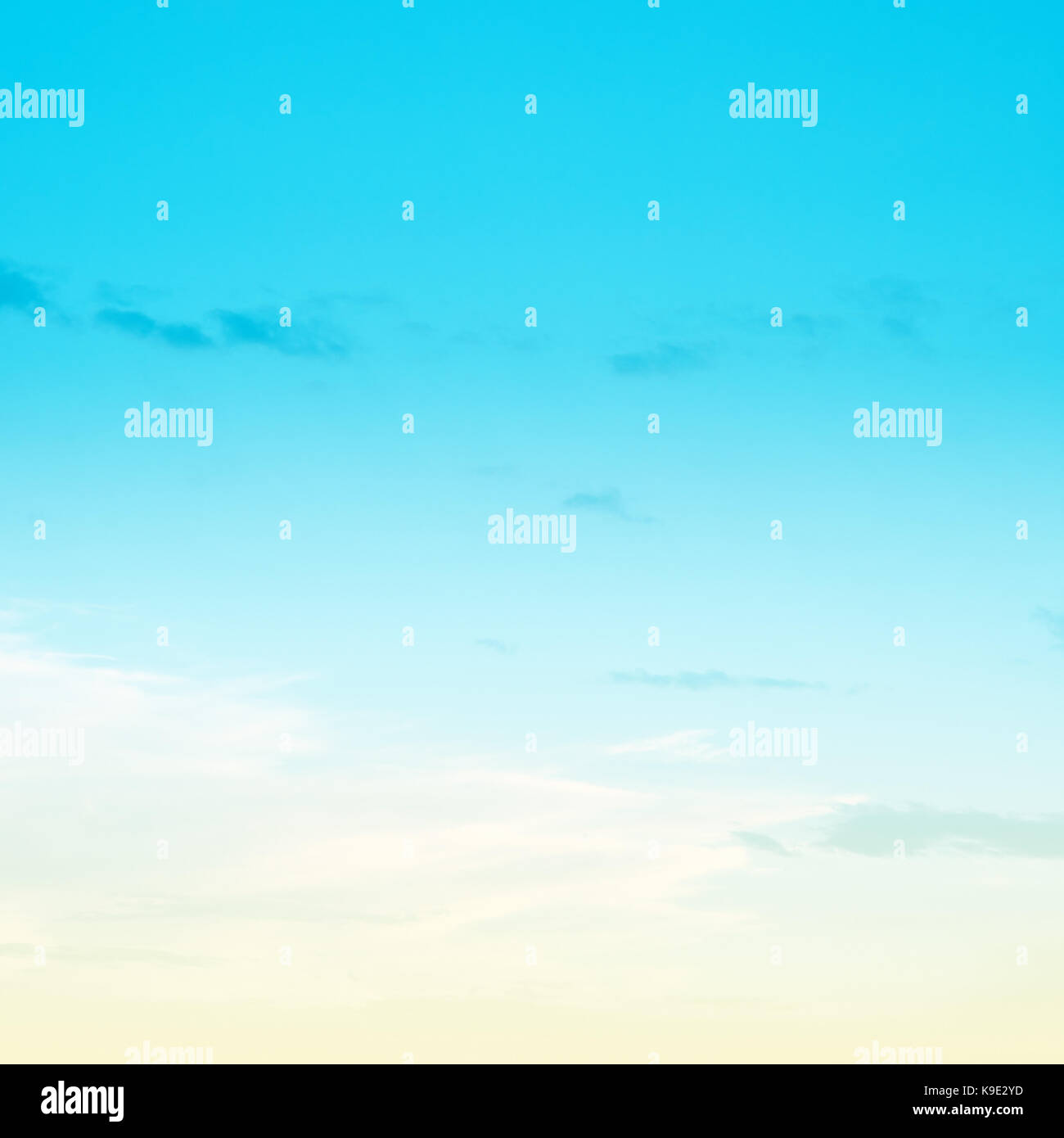 Sky pastel bright colors - Stock Image