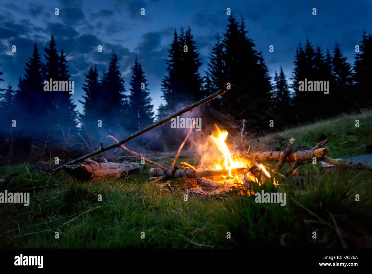 The photos took on a trip on Carpathian mountains around Pop Ivan. - Stock Image