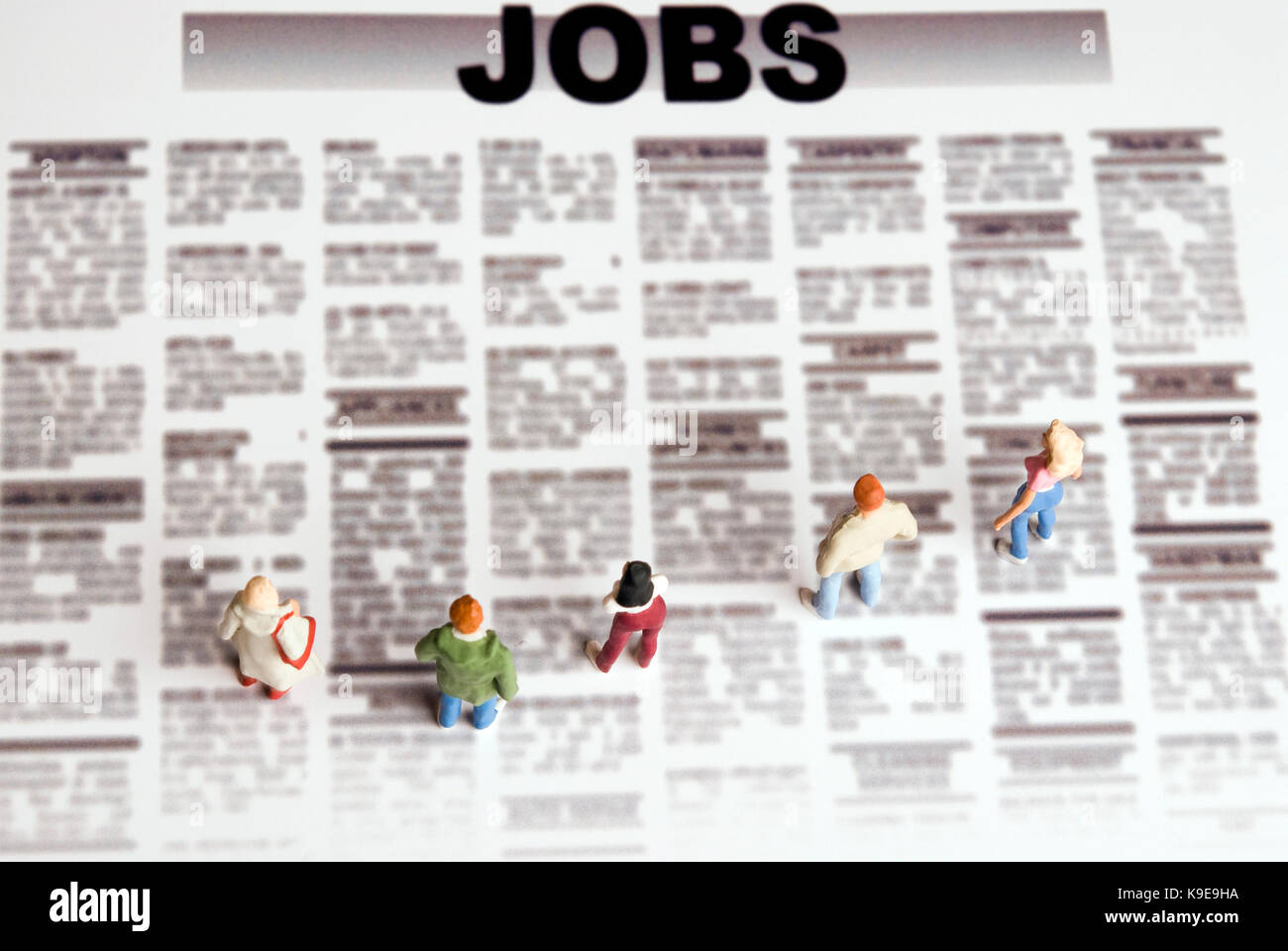 job searching and unemployment concept - Stock Image