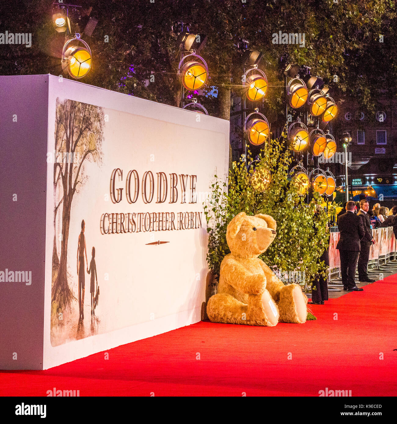 Display at Film premiere Leicester Square, 'Goodbye Christopher Robin'. - Stock Image