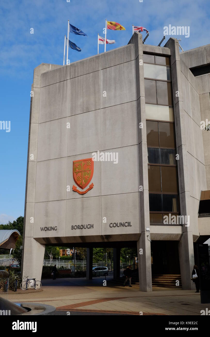 Woking Borough Council - Stock Image