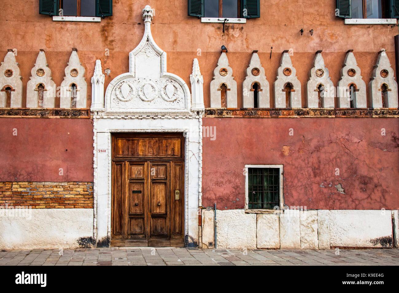 Facade in Venice, Italy - Stock Image